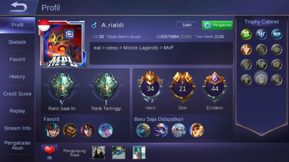 Level 30/hero 34/skin 21 tier epic