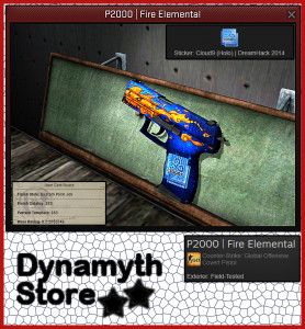 P2000 | Fire Elemental (Covert Pistol)
