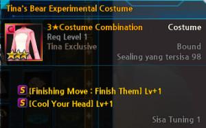 Tina's Bear Experimental Costume