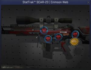 StatTrak™ SCAR-20 | Crimson Web + 4sticker match