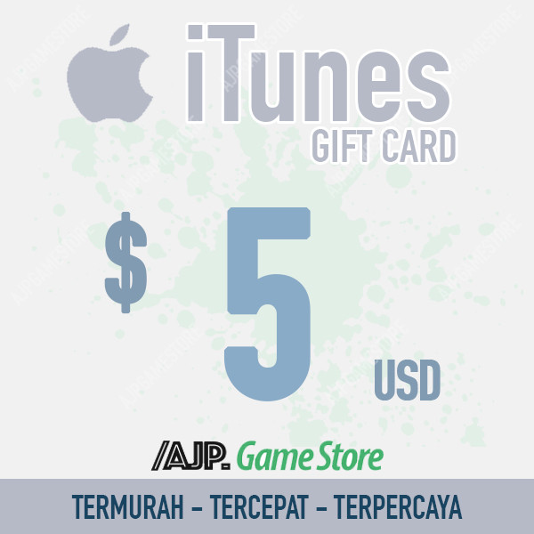 Jual Voucher iTunes US$ 5 dari AJP Game Store | itemku