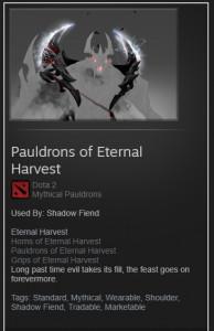 Pauldrons of Eternal Harvest (Shadow Fiend)