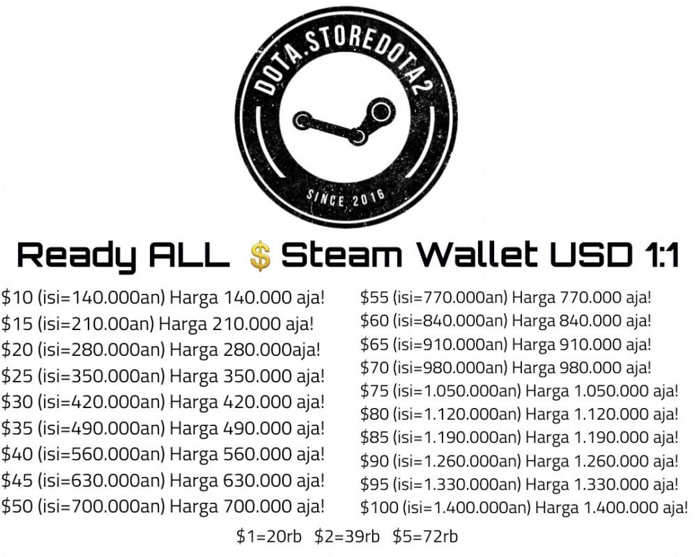 Steam Wallet Code - US$10