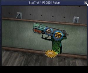 StatTrak™ P2000 | Pulse + Sticker