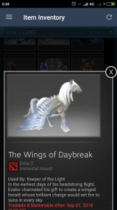 Wings of Daybreak (Immortal TI7 Keeper of the Light)