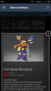 Full-Bore Bonanza (Immortal TI7 Sniper)
