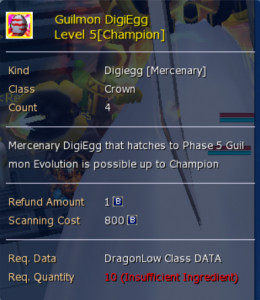 Guilmon Digiegg (Champion) level 5