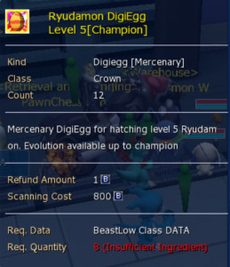 Ryuudramon Digiegg (Champion) level 5
