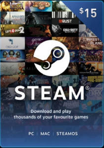 Steam Wallet Code - US$15