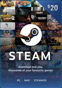 Steam Wallet Code - US$20