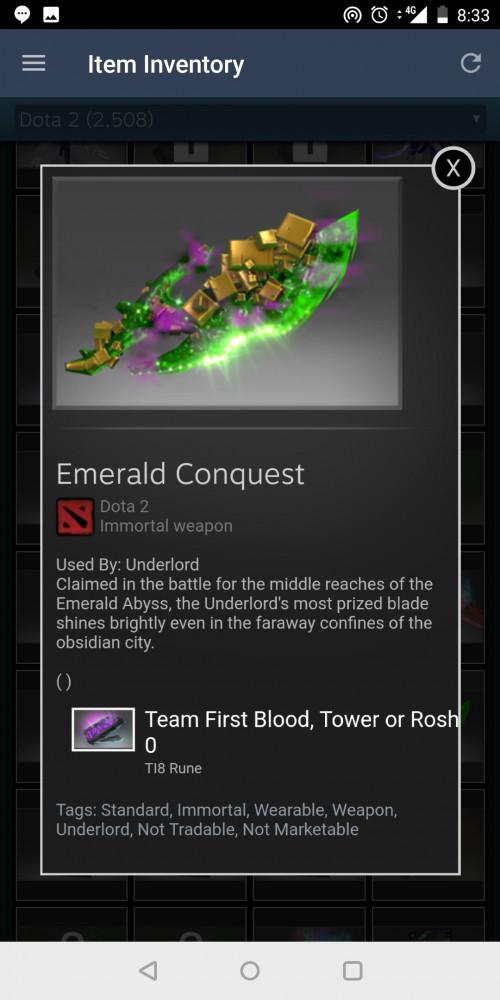 Emerald Conquest (Immortal TI8 Underlord)