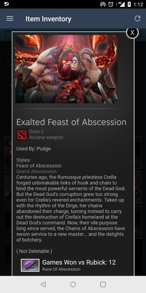 Feast of Abscession Style 2 Unlocked (Arcana Pudge