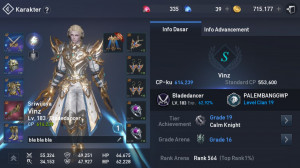 BladeDancer lvl 183 cp 600K