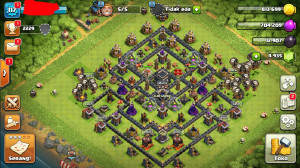MAX Town Hall 9 wall hitam gems 4,9k