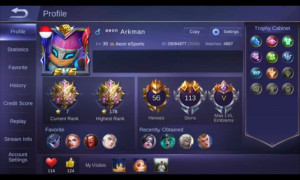Akun Mobile Legend Skin 113 Aman Promo Fast Respon