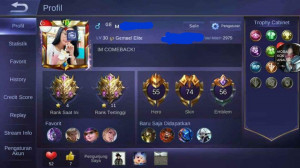 Hero 55-Skin 74 [1 Legend+ 3 Epic Limited] Jossss