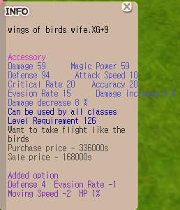 Wings of Bird Wife XG+9