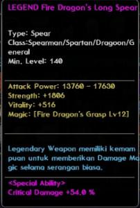 Fire Dragon Long Spear