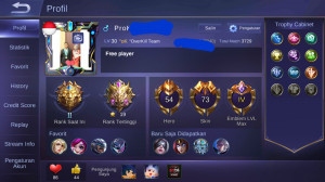 Hero 54-Skin 73[4 Legend Total+1 Epic Limited] Jos