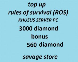 Top Up 3000 Diamonds