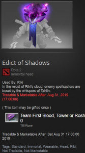 Edict of Shadows (Immortal TI8 Rikimaru)