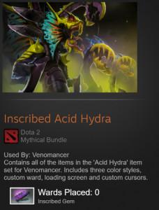 Inscribed Acid Hydra ( venomancer set )