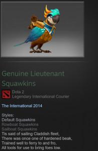 Genuine Lieutenant Squawkins (Courier)