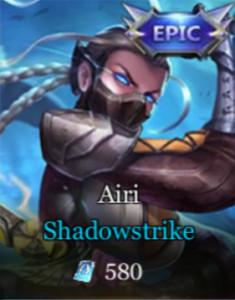 Shadowstrike (Epic Skin Airi)