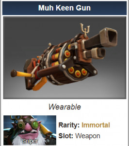 Inscribed Muh Keen Gun (Immortal Sniper)