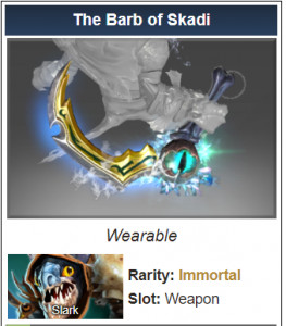 Genuine The Barb of Skadi (Immortal Slark)