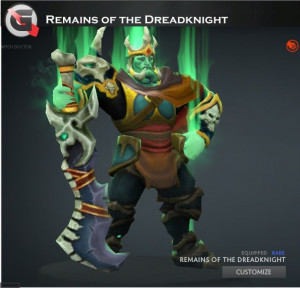 Remains of the Dreadknight Set (Wraith King​ Set)