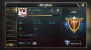 Akun AOV Hero 49 | Skin 58 [HERO SKIN BANYAK]