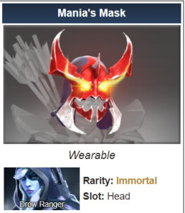 Mania's Mask (Immortal Drow Ranger)