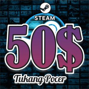 Steam Wallet Code - US$50