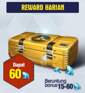 Top Up 60 Diamonds Daily Rewards