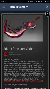 Edge of the Lost order ( Immo Jugger TI8 )