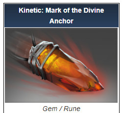 Kinetic: Mark of the Divine Anchor (Gem)