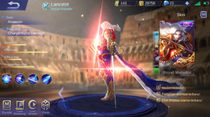 Akun Epic Limit Lancelot Royal Matador Mantaps