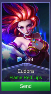 Flame Red Lips (Skin Eudora)
