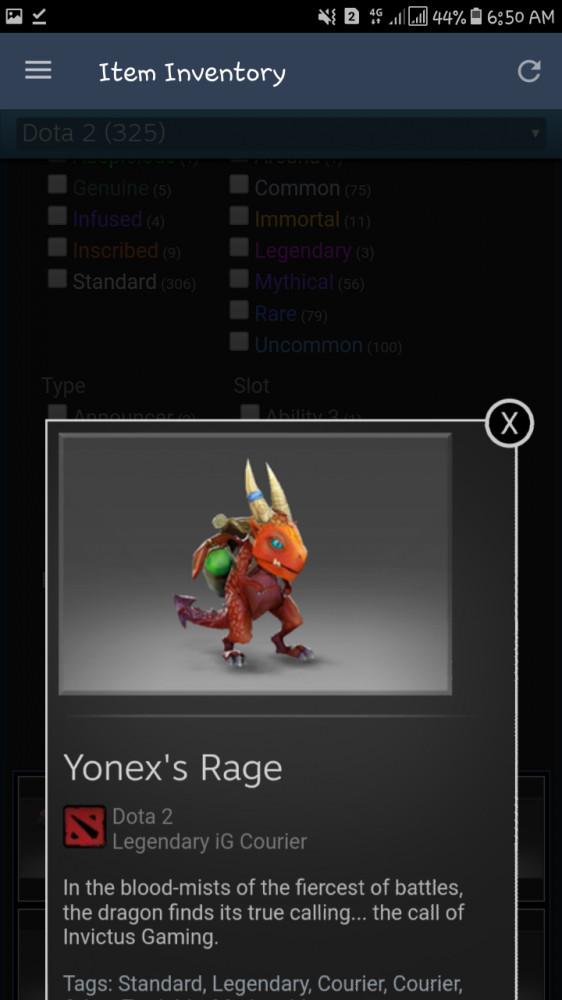 Yonex's Rage (courier)