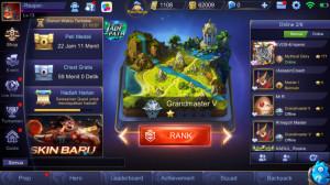 Akun Smurf IOS, Rank GM, winrate 95%, BP 62.000