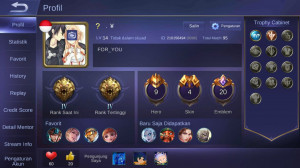 Akun Smurf Andro Rank Master WR 65%