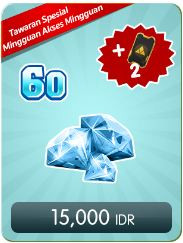 Top Up 60 Diamonds Weekly Special Offer
