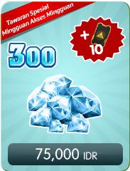 Top Up 300 Diamonds Weekly Special Offer