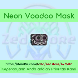 Neon Voodoo Mask - Pure White