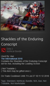 Shackles of the Enduring Conscript (Set Axe)