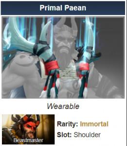 Primal Paean (Immortal TI7 Beastmaster)