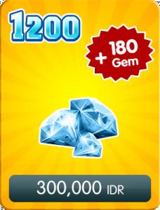 Top Up 1200 Diamonds