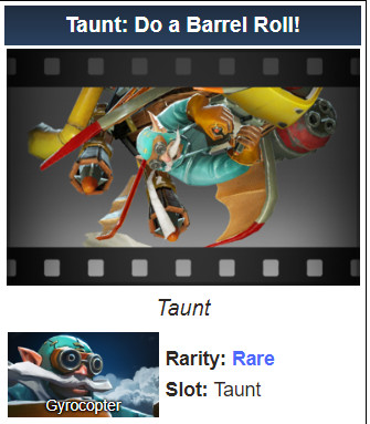 Taunt: Do a Barrel Roll! (Gyrocopter)