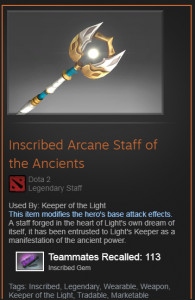 Inscribed Arcane Staff of the Ancients (Keeper of the Light)